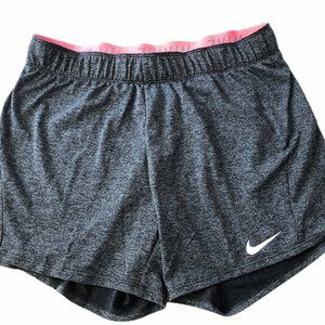 Nike Dri-Fit Womens Charcoal Gray/Neon Pink Small